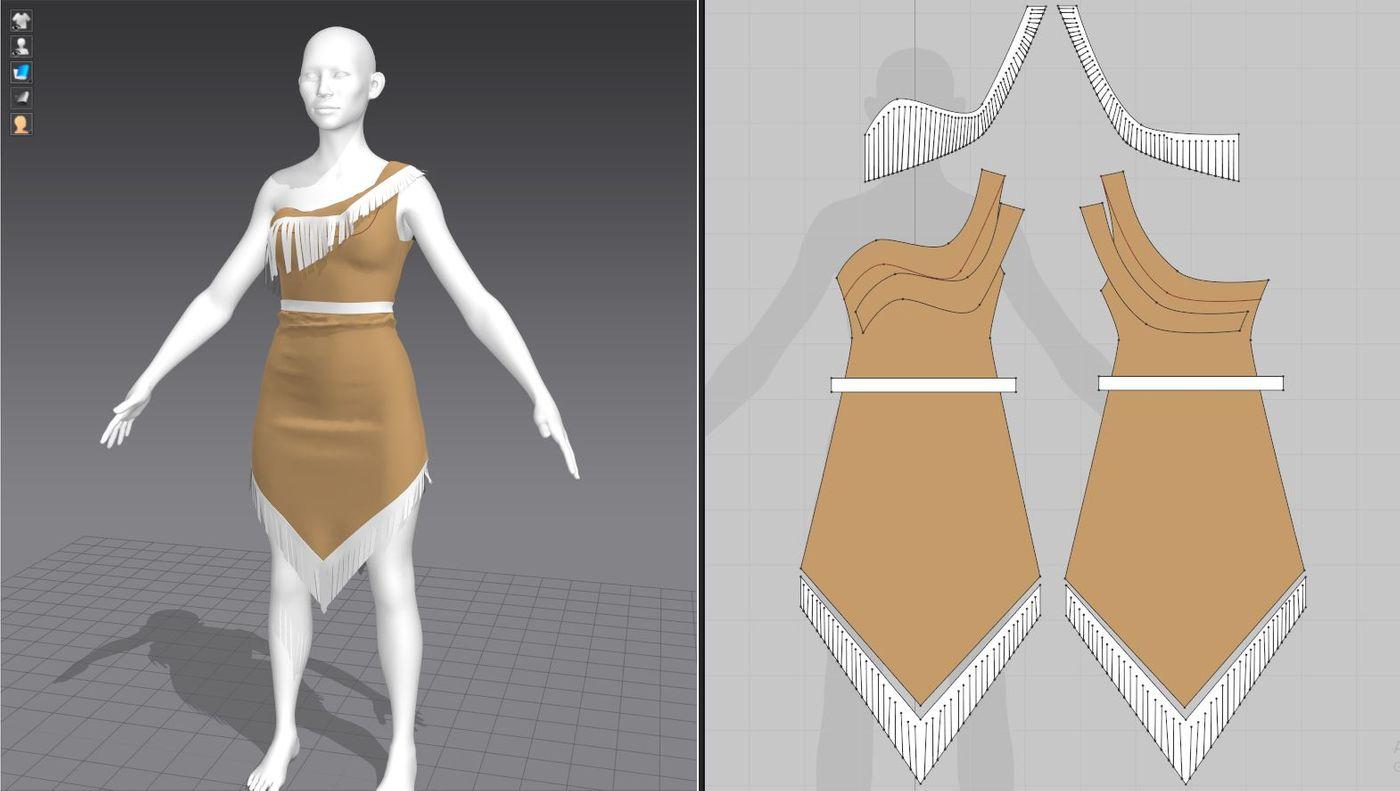 Pocahontas Cloths Sketch V01 Nim