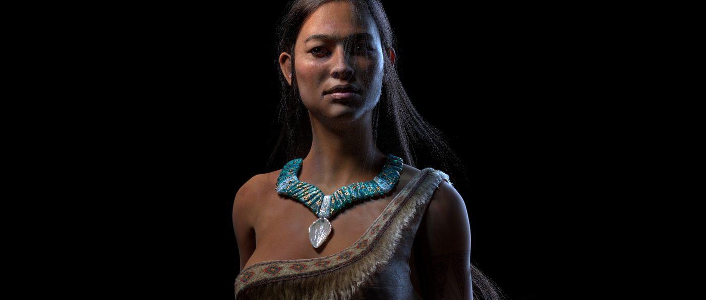 Pocahontas C Loseup Lookdev V02 Nim