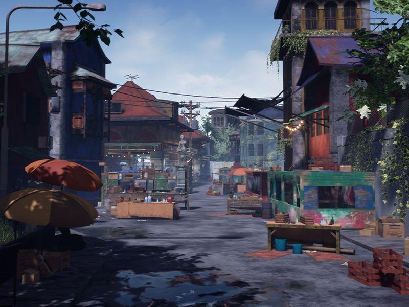 MADAGASCAR CITY: MARKET SCENE [uncharted 4 Fan Art]