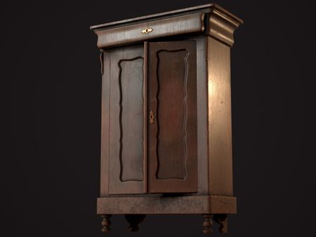 Grandma's Wardrobe/Closet (Game Asset)