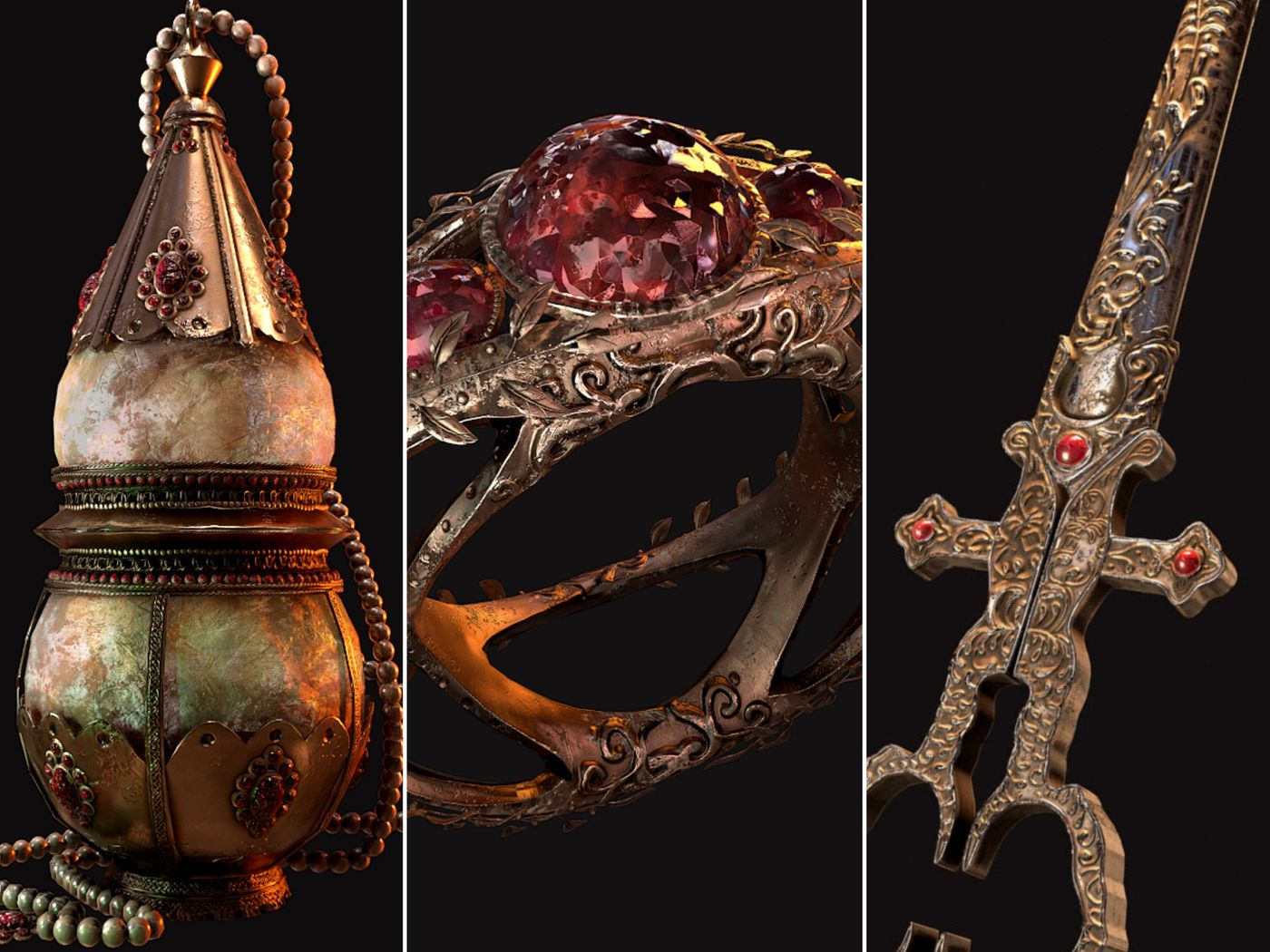 Holy Artifacts | Prop creation by Noor Vullinghs