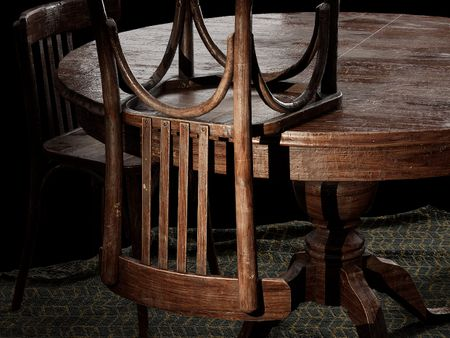 French Bistro Chairs and Table Set