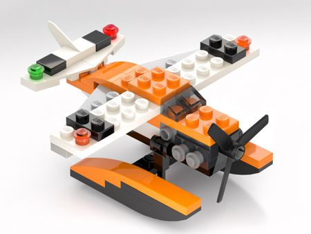 Lego plane animation