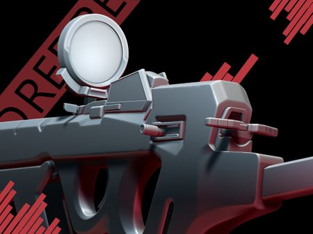 High Poly SMG