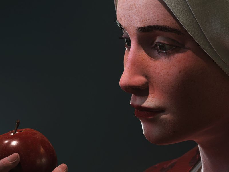 Lady with the apple