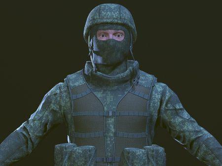 RU soldier