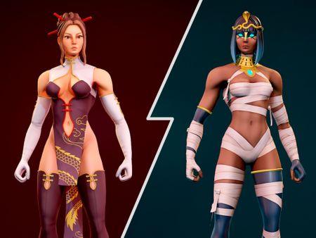 Female Fighter Characters (Kumiko & Nailah)