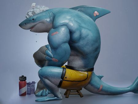 2D to 3D Shark Guy