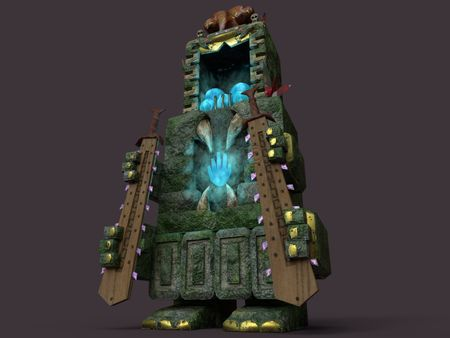 Fantasy Aztec Power-up and weapon dispenser