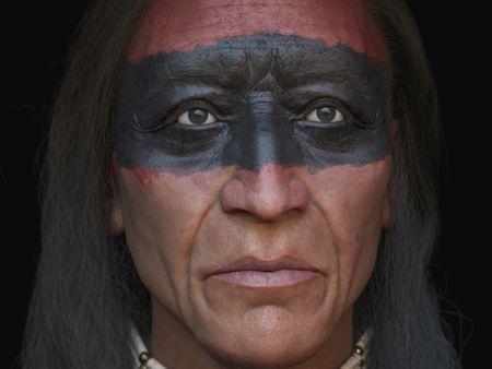 Native American red Skin