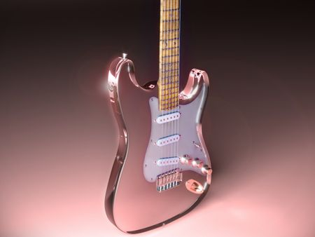 The pink guitar