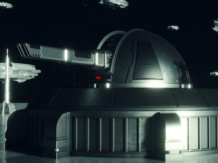 Sci-Fi Space Turret