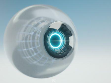 Synthetic Cyberpunk Eye