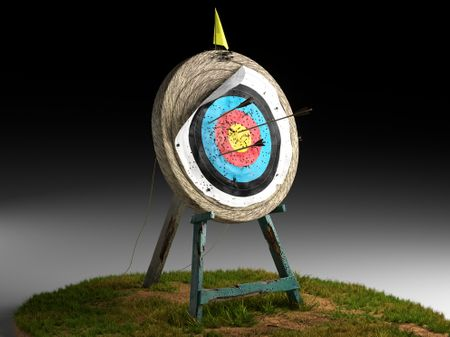 Old Archery Target