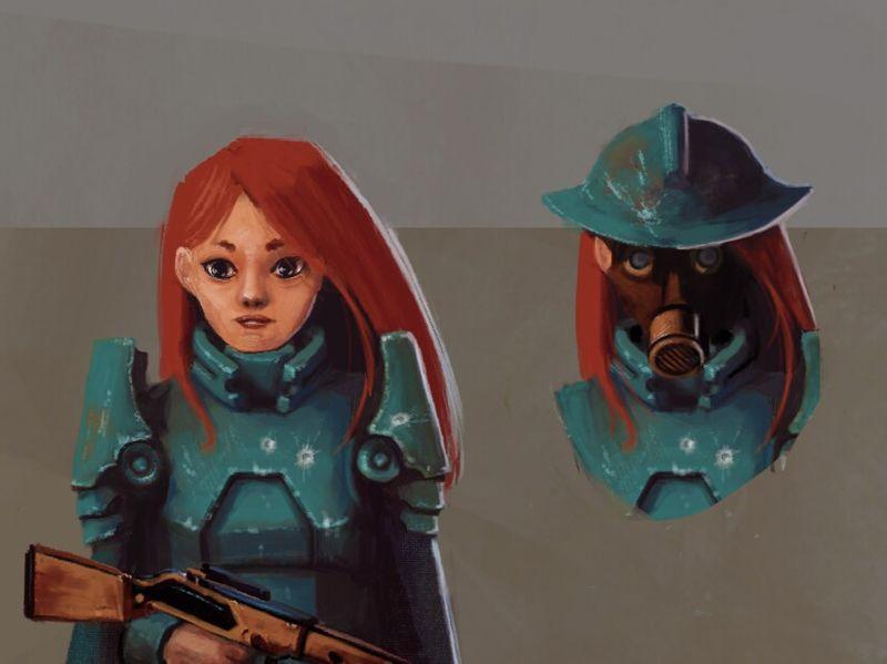 RedHead in armor