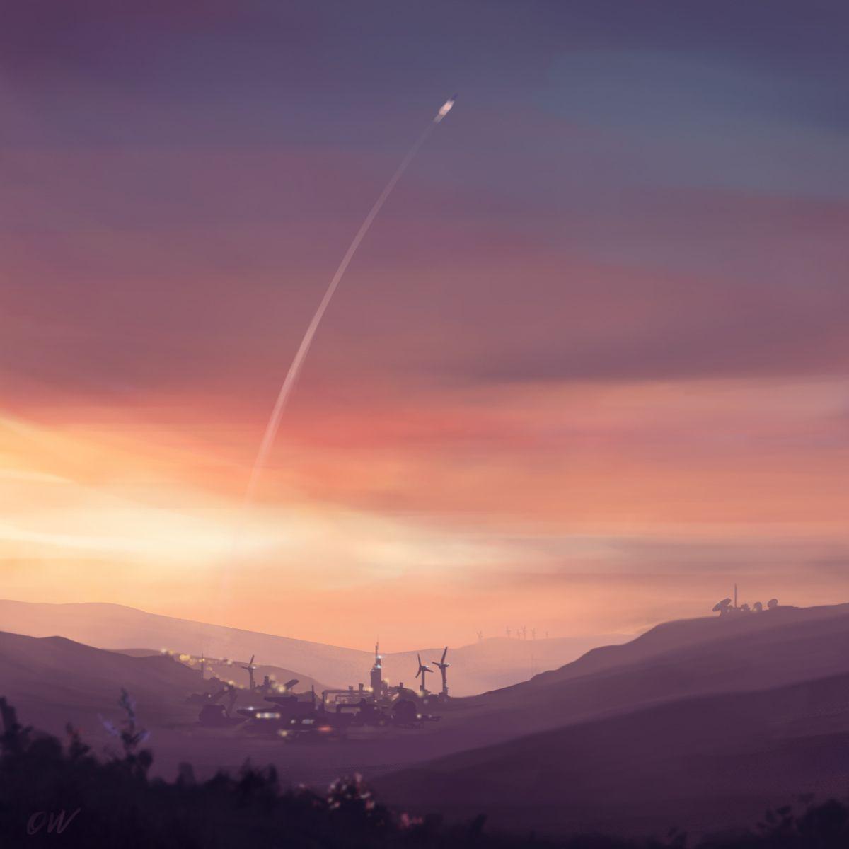 Planetsunset Omervandevelde