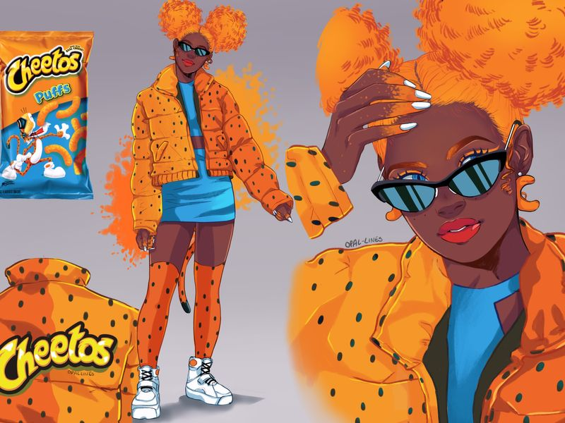 Puffy Cheetos Character Design