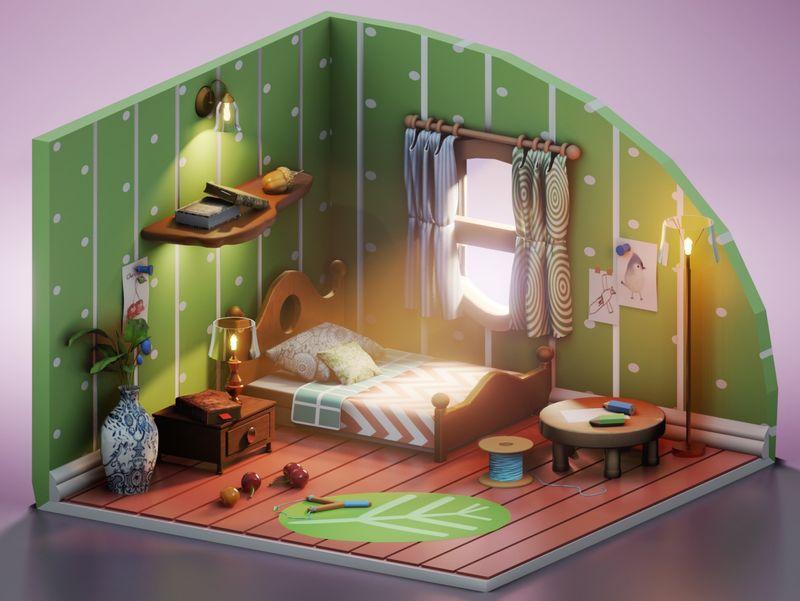 Lil Artist's Bedroom