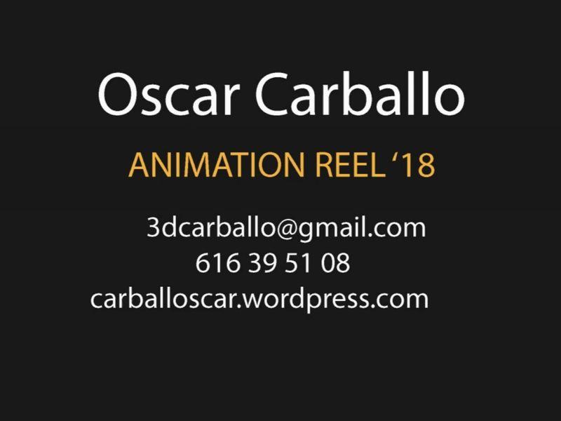 Animation reel 2018