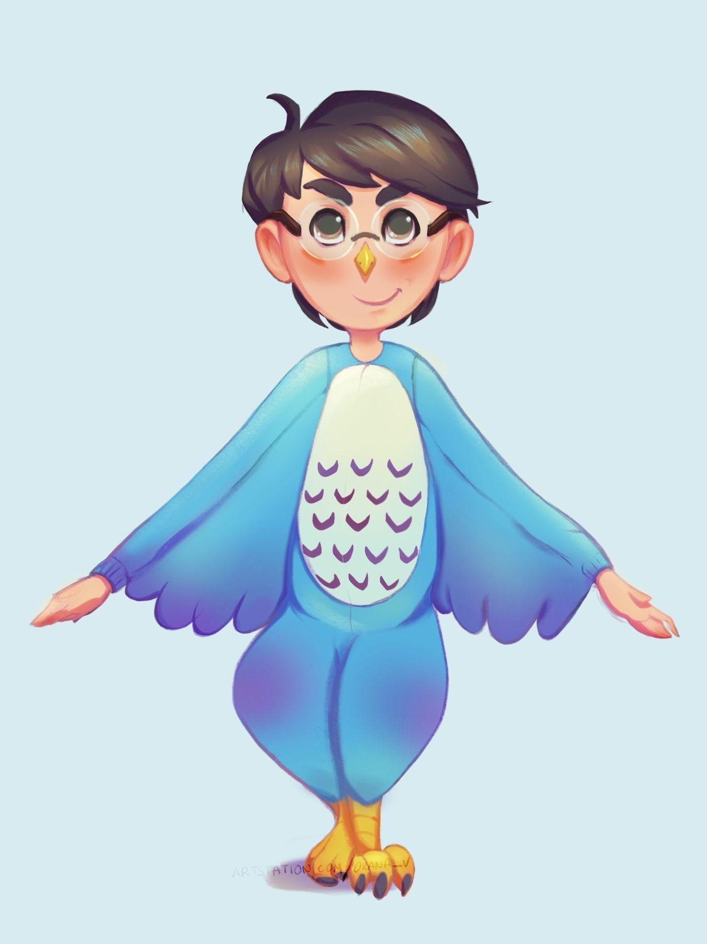 Kigurumi Kid Owl Oxanak