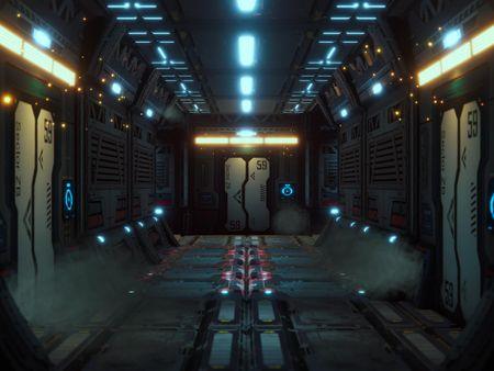 Sci Fi Corridor - Unity