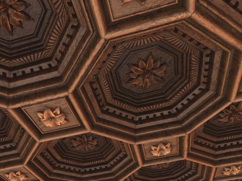 Octagonal Coffered Ceiling - Substance Designer Material