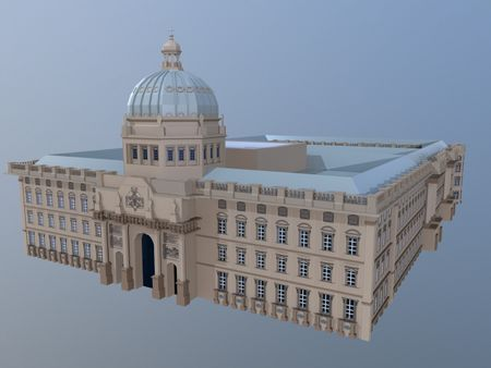 Humboldt Forum Low Poly Style