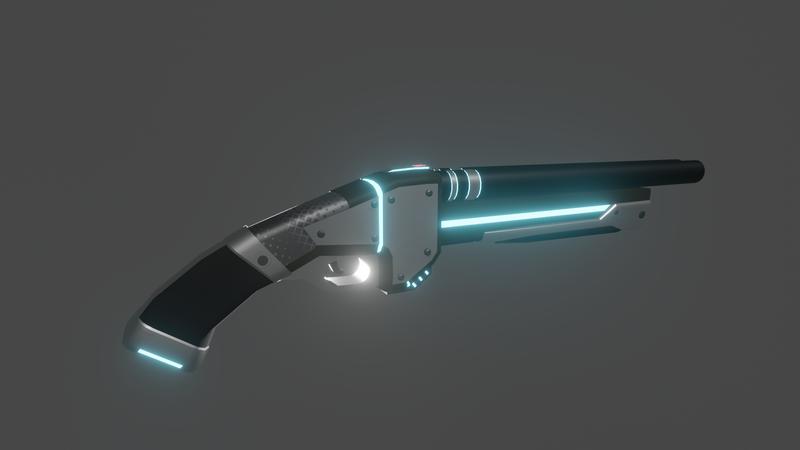 Double Barrel sci-fi Shotgun