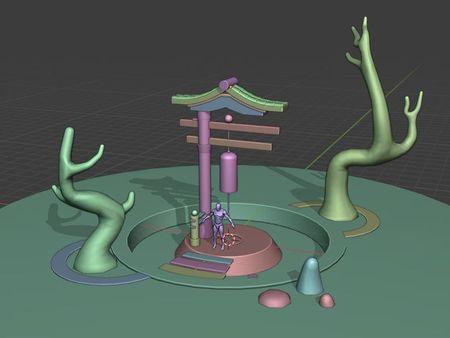 Stylized Shinto Pond