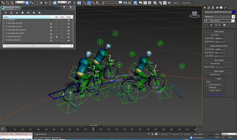 Advanced Bike Rig with an Automatic Steering System