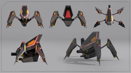 Spider Tank with various animations