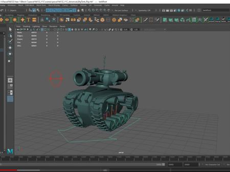 Advanced Tank Rig with suspensions that can cross any terrain