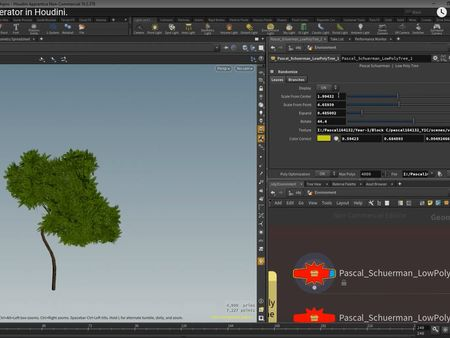 Pascal Schuerman | Low Poly Tree - Generator in Houdini