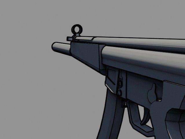 Cel Shaded MP5 Submachine Gun