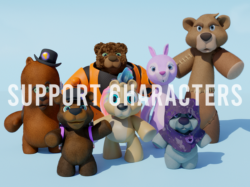 Lair of Forgotten Bears: Support Characters
