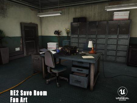 RE2 Save Room Fan Art