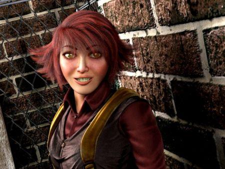 3D girl character