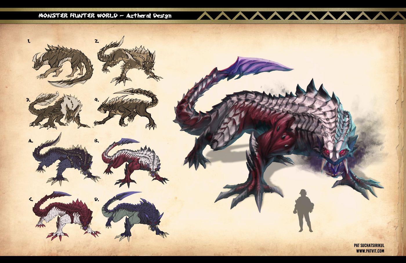Suchatsirikul Pat Final Page10 Monster Hunter Aztheral Design Patvit
