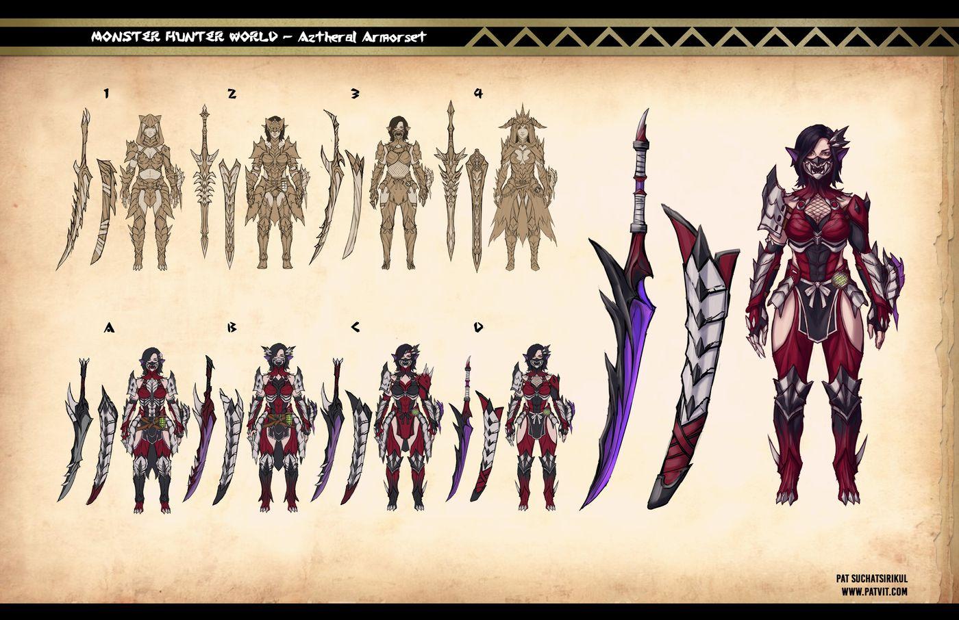 Suchatsirikul Pat Final Page11 Monster Hunter Aztheral Armorset Design Patvit