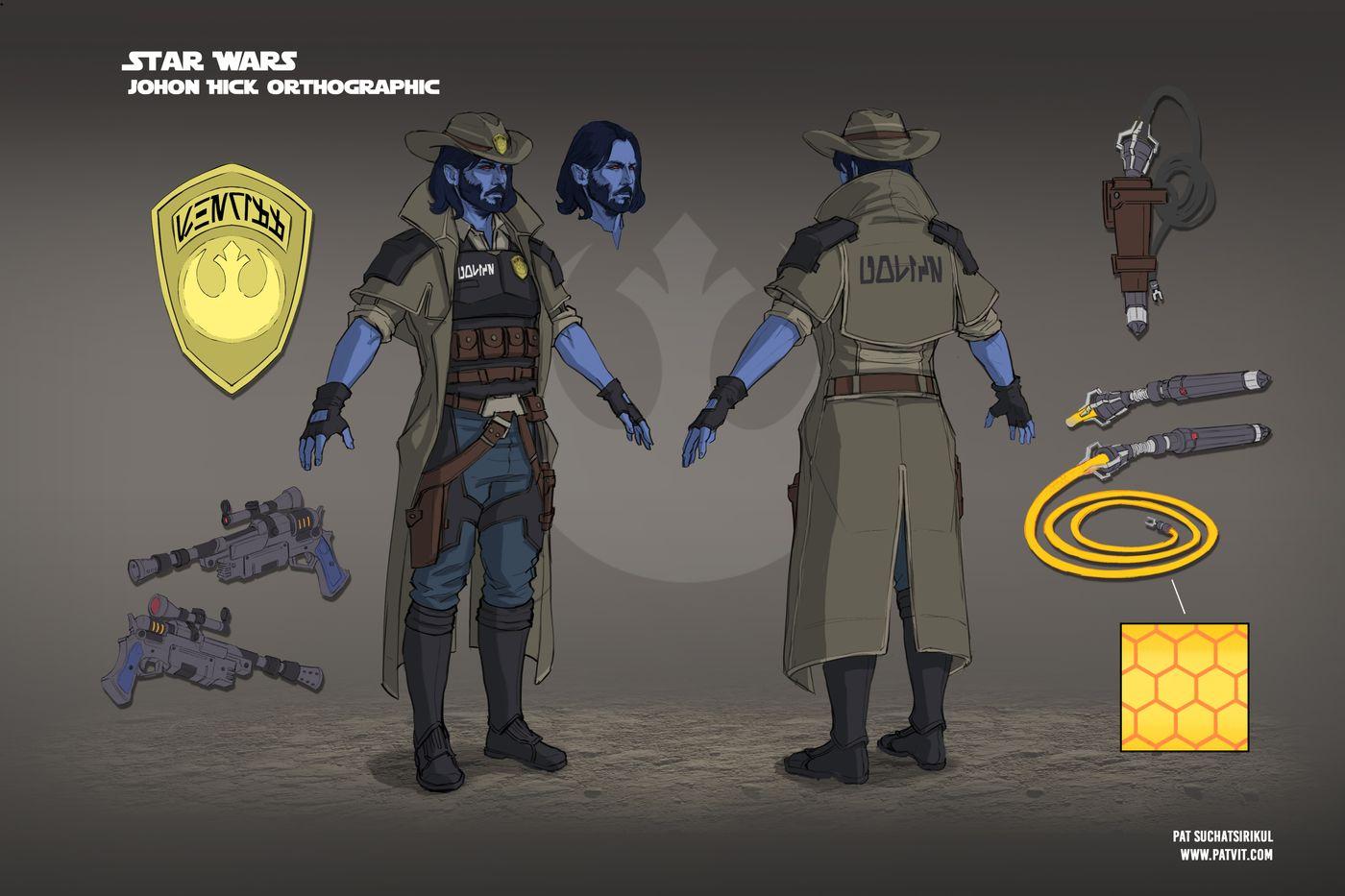 Suchatsirikul Pat Final Page16 Star Wars Johon Hick Chiss Sheriff Orthographic Patvit