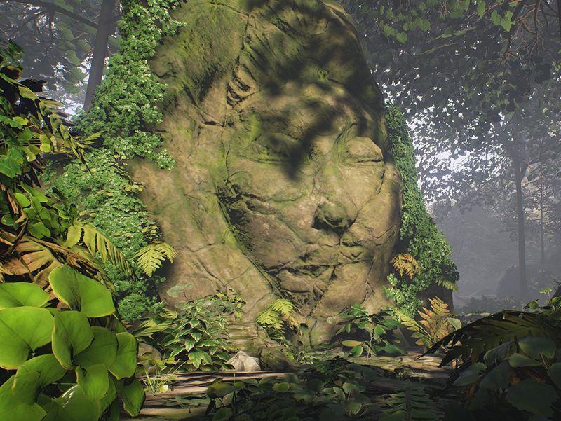 Forest scene in UE4