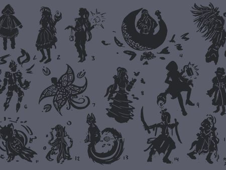 IMS 305 - Character Design Silhouettes/References