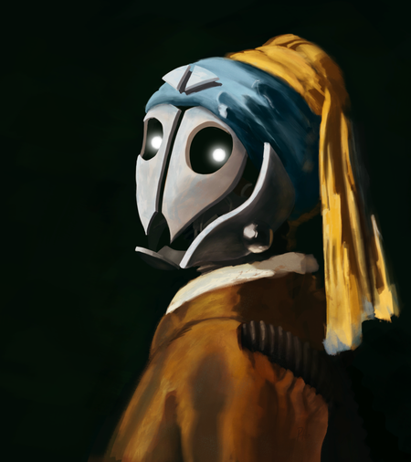Robot with a Pearl Earring