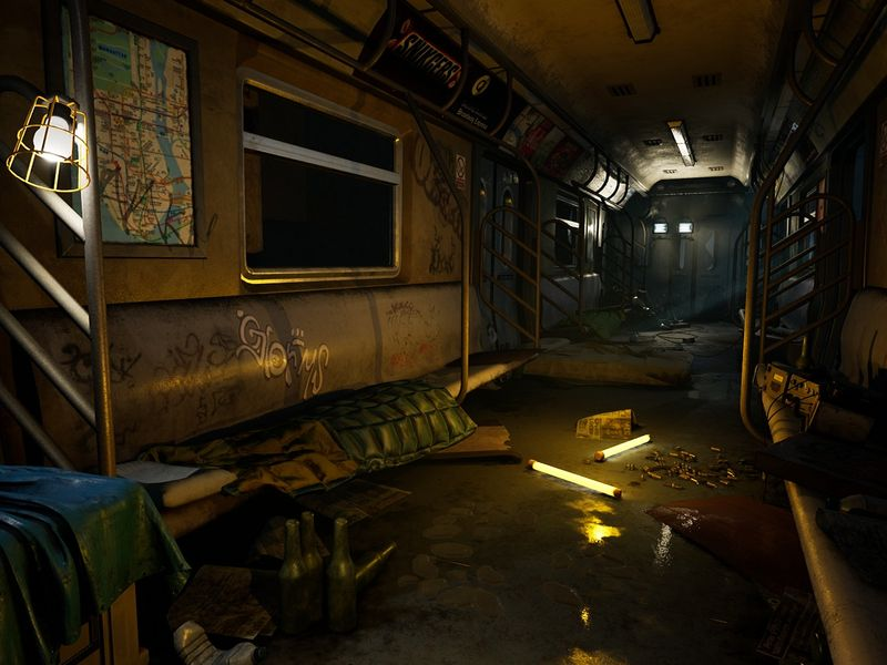 Subway Safe Zone - Tom Clancy's The Division inspired environment - (Fan Art)