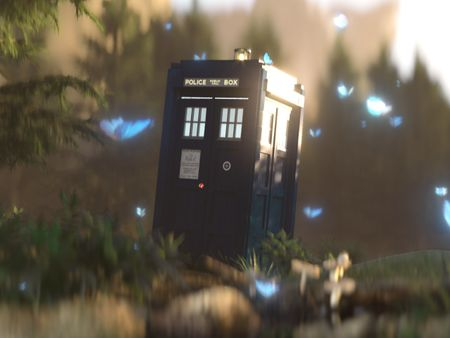 Tardis Lost in the Forest