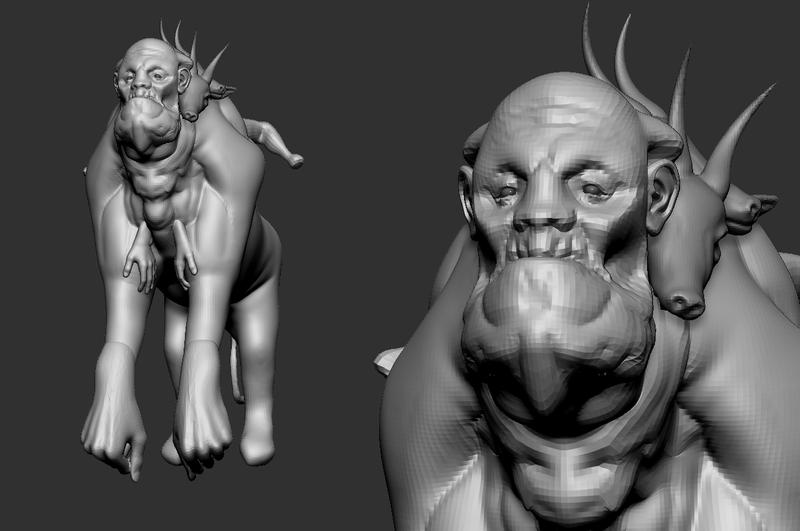 Frankenstein's monster 3D concept