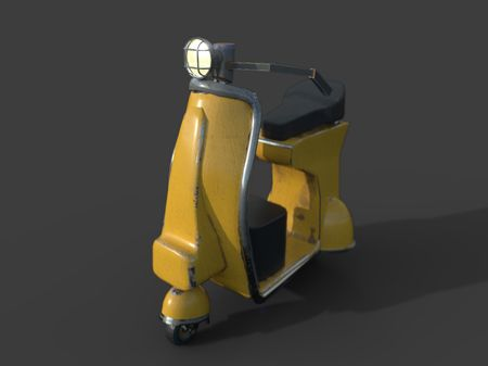 Scooter for carousel