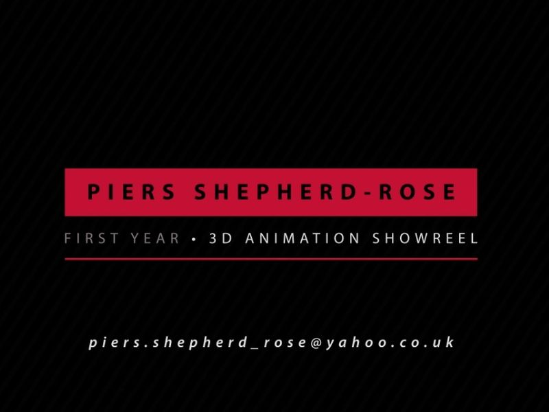 First Year 3D Animation Showreel (2018-2019) @ University of Hertfordshire - Piers Shepherd-Rose
