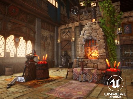 THE DWARVEN BLACKSMITH ROOM - UE4
