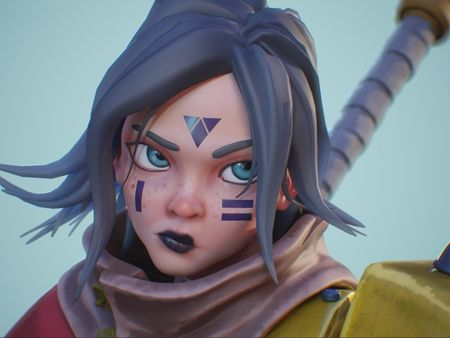 Krisha, The Robot Huntress - ArtHeroes